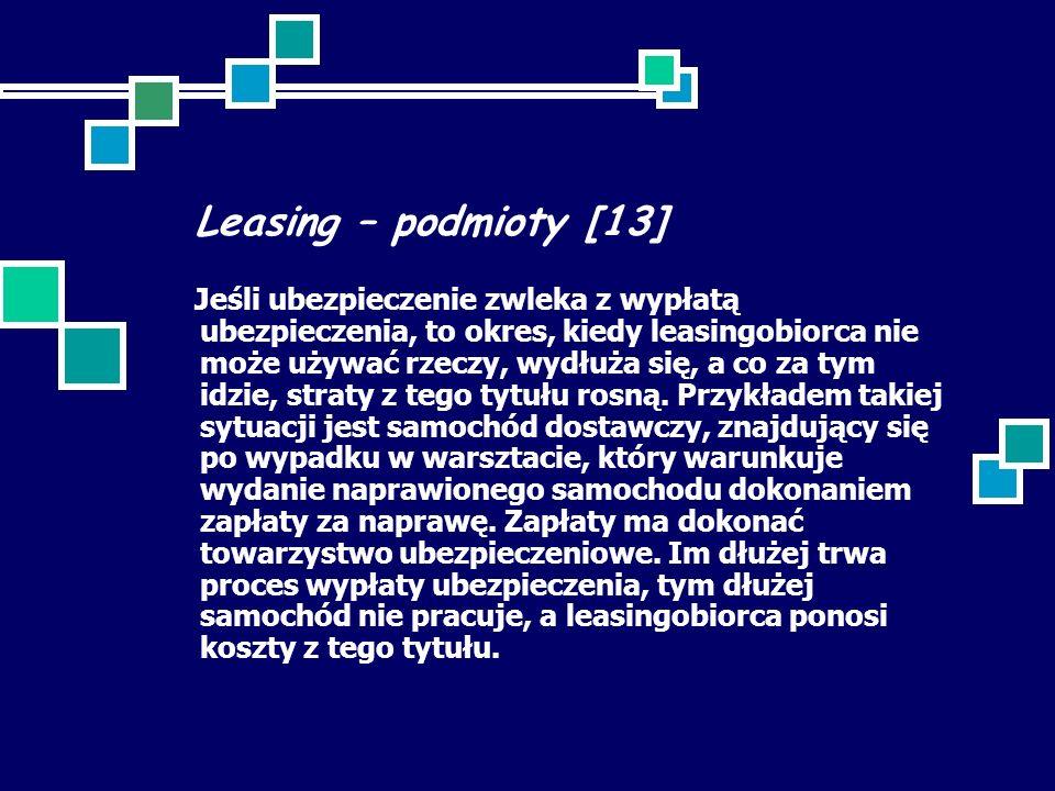 Leasing – podmioty [13]